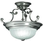 Dolan Designs 524-09 Richland 2 Light Semi Flush mount, Satin Nickel