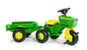 rolly toys John Deere Three Wheel Trac Pedal Tractor with Detachable Trailer, Youth . .5+