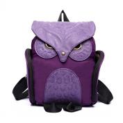 Estwell Women PU Leather Owl Backpack Handbag Casual Daypack Shoulder Bag Travel Rucksack, Purple