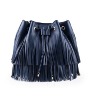 Fringed solid-coloured bag in the fall/ fashion single shoulder bag-C
