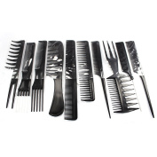 Befaith Demarkt Hairdressing Stylists Barbers Combs 10 Piece Set