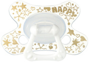 Difrax DIFR3 Soother Natural Pacifier, 18 Plus Months, Gold