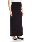 Three Seasons Maternity Women's Solid Long Maxi Skirt