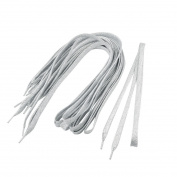 Sparkling Sneakers Shoes Flat Shoelaces 5 Pairs Silver Tone