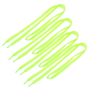 The Flat Shoelaces Sports Shoes Strings Green 2 Pairs for Unisex