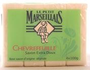 Le Petit Marseillais - Le Petit Marseillais Savons Extra Doux Chèvrefeuille 4 x 100g 400 g