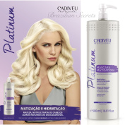 CADIVEU PLATINUM EFFECT BLONDE BALANCE ANTI FRIZZ HAIR MASK MATIZADORA