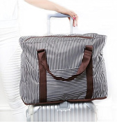 Foldable Travel Duffle Striped Flight Holdall Lightweight Holiday Weekend Bag Overnight Gym Bag Fits in Luggage