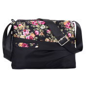 Demiawaking Spring Floral Women Waterproof Nylon Outdoor Leisure Ladies Shoulder Bag Crossbody Bag