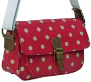 Ladies Girls Small Polka Dot Waterproof Oilcloth Satchel Cross-body Shoulder Bag