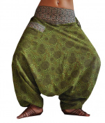 virblatt harem pants unisex aladdin pants alternative clothing S-L - Naturverbunden