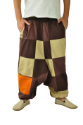 UNISEX harem pants for turning over with patchwork patterns and beige side as alternative clothing and Aladdin pants from virblatt - Vielfältig