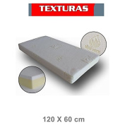 Textures Home - Aloe Vera Cot Mattress with Removable Cover 120 x 60 cms