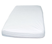 Cot bed waterproof mattress protector. 70 x 140 cm. Cotton terry, breathable poliurethane linning