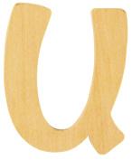 """RAYHER """"U"""" Letter, Wood, 6 cm"""