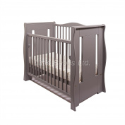 NEW GREY TIA SLEIGH MINI COT / SPACE SAVER COT ONLY
