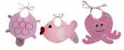 Zigozago set of 3 bibs SEA ANIMALS - Tie