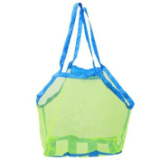 WLIFE Portable Mesh Sand Away Bag Dredging Pouch Children's Large Beach Bag