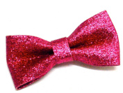 La Peach Fashions Latest Gorgeous Small Self Glitter Plain Coloured Children Bow With Clip Lovely Colours