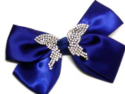 La Peach Fashions Very Latest Stunning Children Ribbon And Diamante Butterfly Hair Bow With Clip Gorgeous Colours