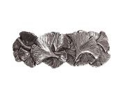 Oberon Design Ginkgo Hair Clip | Hand Crafted Metal Barrette With Imported French Clips