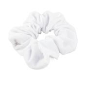 Mytoptrendz® Large Plain White Velvet Scrunchie Luxurious Feel Velvet Hair Scrunchie Bobble