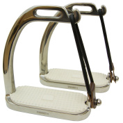 Coronet Fillis Peacock Safety Stirrup Irons with Pad