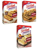 Slimfast Meal Replacement Snack Bars Ultra Variety Pack One Box Each Of Yoghurt Fruit Chocolate Crunch Nutty Salted Caramel 12 bars 4 Each
