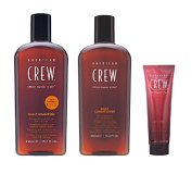 American Crew Daily Shampoo 450ml, Conditioner 450ml and Light Hold Gel 390ml