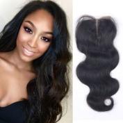 """'blisshair Wave 8.9cm X4"""" Middle Part Front Lace Closure Virgin Indian Hair Body Wave 25cm"""