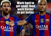 Motivation Poster - Neymar # 20 - Neymar motivational quote - A3poster - Barcelona - Brazil football legend - A3 Print - Poster