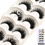 Soft 5Pair Makeup Thick False Eyelashes Long Natural Eye Lashes Natural Handmade