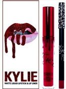 KYLIE JENNER Cosmetics Lip Kit Matte Liquid Lipstick & Lip Liner in VALENTINE * LIMITED EDITION *