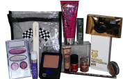 Carolina Herrera VIP Party Camera & Makeup 14pc Set + Max Factor, Dose, Bourjois inc Foundation, Lipstick, Eyeshadow, Liner & Varnish