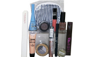 Max Factor, Loreal, Covergirl, Bourjois, 12pc Taupe Makeup, inc Nail, Foundation, Lipstick, Eyeshadow, Liner, Varnish & Bag