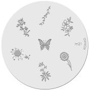 Konad Stamping Nail Art Image Plate M21