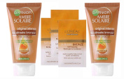 5pc Garnier Ambre Solaire Intense No Streaks Bronzer Self-Tan Gel & Loreal Sublime Bronze Wipes