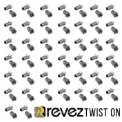 Revez Twist On F-Connector for Standard Domestic Satellite Cable - such as CT100 / WC100 / WF100 / TX100 / H109F / PH100 / RG6 & WF100
