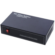 UHPPOTE BNC Coaxial HD 4 In 8 Out Ports AHD/CVI/TVI Video Distributor Amplifier Distributer Splitter