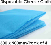 Disposable Cheese Cloth 4 Sheets X 900mm x 600mm Colour BLUE