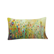GBSELL Pillow Cover Fresh Flower Pillow Case Sofa Throw Cushion Cover Party Home Decor