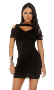 Blvd Collection by Forplay Women's Swank Short Sleeve Coldshoulder Cutout Dress