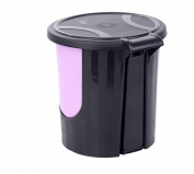 Household Fashion Foot Pedal Kitchen Toilet Trash Can Cover 2 1 Package,Purple