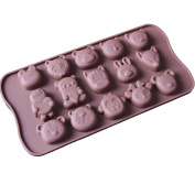 15 Holes Silicone Chocolate Mould Animals Pattern Cookies Cake Mould