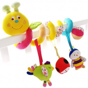 SHILOH Crib toy Kid Infant Baby Activity Spiral Wrap Around Crib Bed Bassinet Stroller Rail Toy
