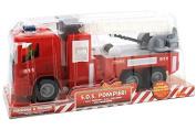 "Globo Toys 96100cm W'Toy"" Friction Fireman Truck"