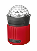 Trust Urban Dixxo Go Bluetooth Illuminated Wireless Speaker with Party Lights - Red
