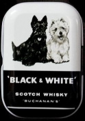 Treasure Boxes Small Black & White BUCHANAN 'S SCOTCH WHISKY DOGS Mint Tin Pill Box Pill Box Mint Box Small Money Box