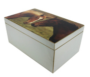 118-047 FC HOME SIGNATURE COLLECTION Box with Horse - 34 x 21 x 15 CM, Box, Box, Grey
