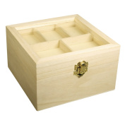 Rayher Hobby 62577000 Height scrignetto with Decorative Lid, FSC Mix Credit, 16 x 9.5 cm, 5 compartments in the lid